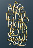 Golden lombard alphabet
