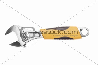 Ajustable spanner isolated over white