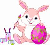 Bunny Painting Easter Egg