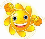 Cute dancing Sun