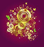 Golden elements pattern