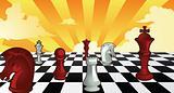 Chess theme background