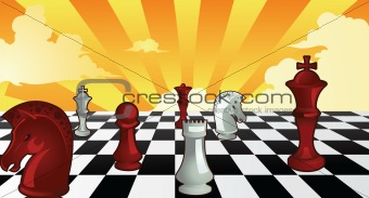 Chess theme background