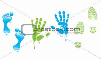 Footprint,fingerprint,