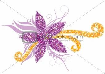Crystal flower ornament
