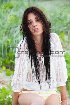 Attractive Young Woman in a Bikini