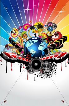 Abstract Background For Disco Flyers