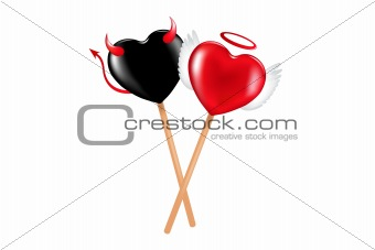 Angel And Demon Lollipops