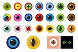 Multicolored Eyes - Design elements