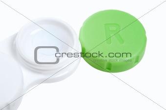 Open contact lens case