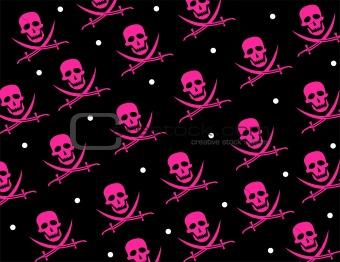 Skull Jolly Roger Repeat Pattern