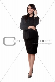 Attractive twenties hispanic businesswoman