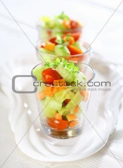 Three small salads
