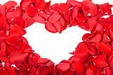 Red petals heart
