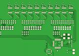 PCB, the printed-circuit-board (3D).