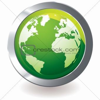green icon earth globe