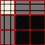 tartan black and red