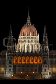 Central tower of the Hungarian Parliament