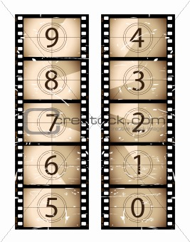 image 2589712: old film strip countdown from crestock stock photos, Powerpoint templates