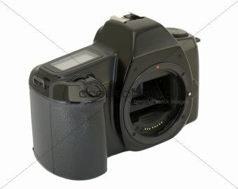 Camera body on white background