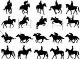 horsemen silhouettes
