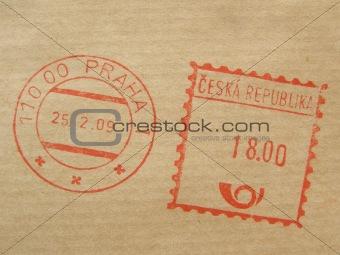 postage meter from Prague