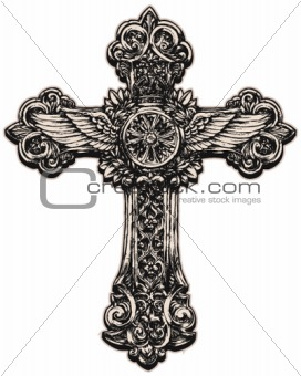 Detailed cross illustration
