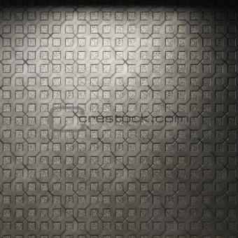 illuminated tile wall