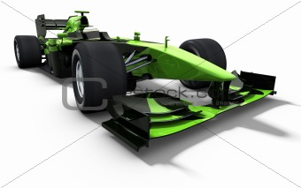 race car - green and black