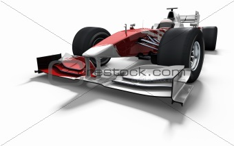 race car - red and white