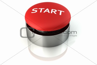 3d render of a start emergency button
