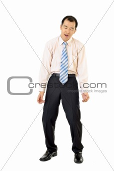 Tired businessman