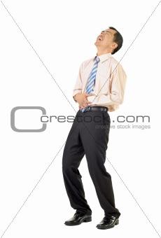 Business man laughing