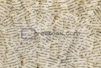 Torn letters
