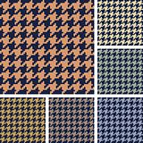 Vector set of houndstooth pattern