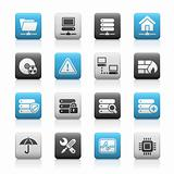 Network & Server // Matte Icons Series