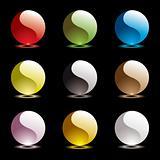 gel round ying yang