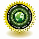 Green earth eco icon