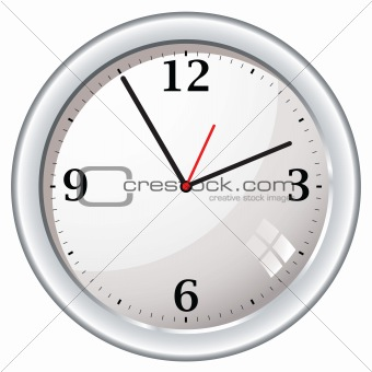 modern retro wall clock