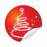 christmas tree stiker