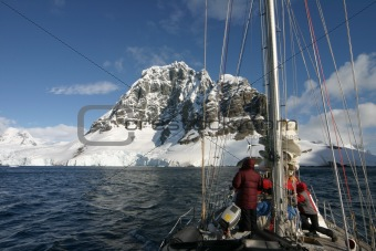 Sailing in Antarctica