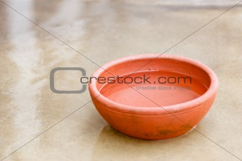 Clay red bowl