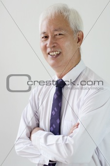 smiling old business man
