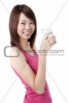 asian girl drinking
