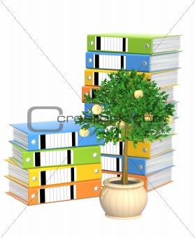 Monetary tree and folders