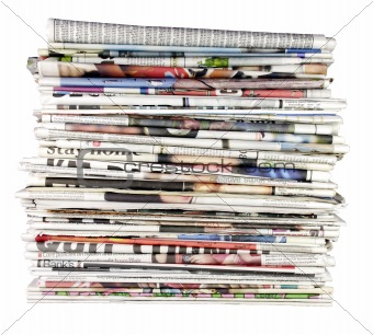 stack of newspapers 01