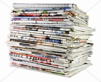 stack of newspapers 02