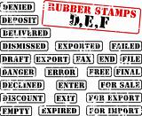 Rubber stamps collection DEF