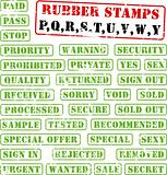 Rubber stamps collection PQ...WY