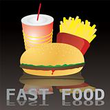 fast food tile text
